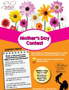 Salsa Grill Mother's Day Essay Contest