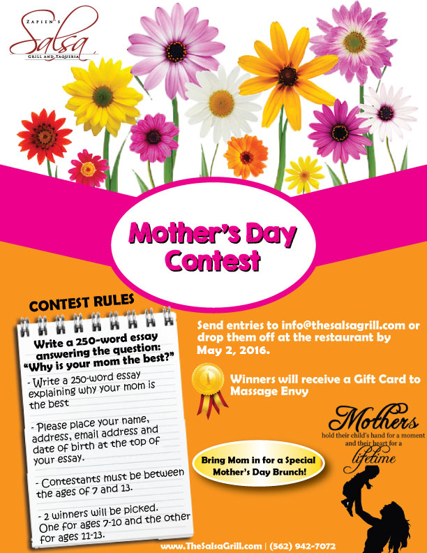 mothers day essay contest Do you have a mom hero so many moms don't get much recognition for the wonderful things they do, so today moms is celebrating mom heroes this mother's day.